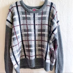 NWT VINCE CAMUTO Plaid Soft Sweater Size XL